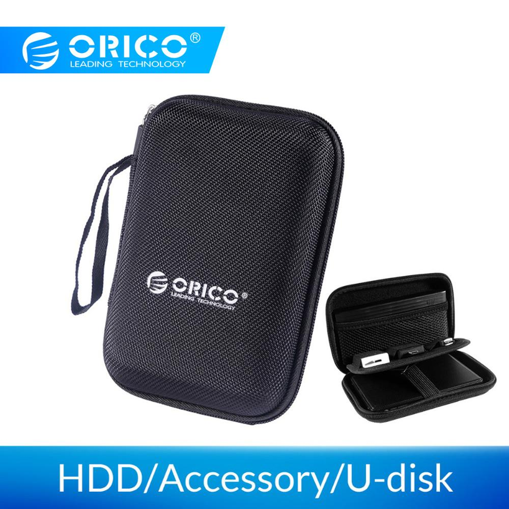 Orico 2.5 hdd Polegada saco de disco rígido proctect mini tamanho portátil caso usb disco rígido externo bolsa saco para wd seagate/samsung caixa ssd