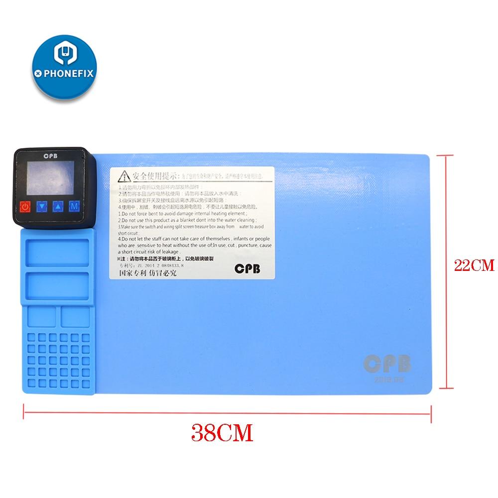 CPB-لوحة تسخين الهاتف المحمول ، فاصل شاشة LCD ، أداة فتح ، طقم إصلاح الشاشة ، أداة تجديد لجهاز iPhone iPad
