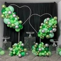 christmas decor heart balloon stand baloon garland for wedding decoration cirle balloons wreath ring anniversary party supplies