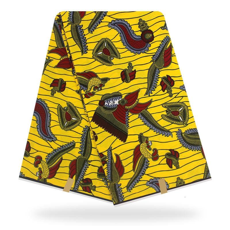 6 yardas impresa Africana paño de cera Real tela Ankara 2019 nigeriano Batik auténtico tela de cera Real para el vestido de las mujeres