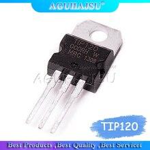 10 pces tip120 to-220 darlington transistor complementar novo original