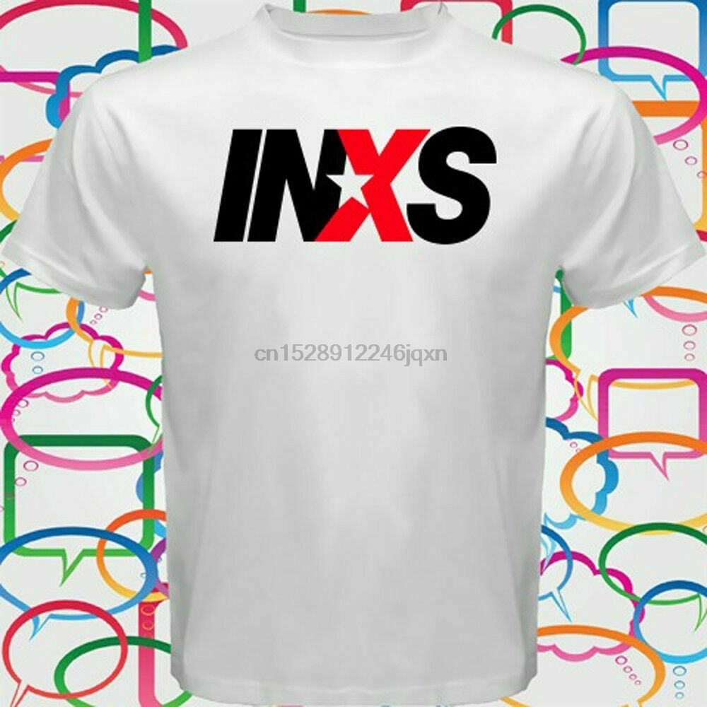 New Inxs Logo Australia Rock Band MenS T-Shirt 2019 Cool Tees