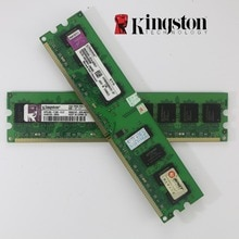 2 pièces Se Kingston escritorio RAM DDR2 2GB PC2-6400 800MHz PC mémoire vive 240 pins para 667 5300 AMD intel