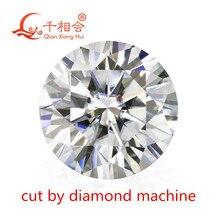 dia mond machine cut  3.5mm to 12mm DF color white best quality  Round shape Brilliant cut  moissanites loose stone
