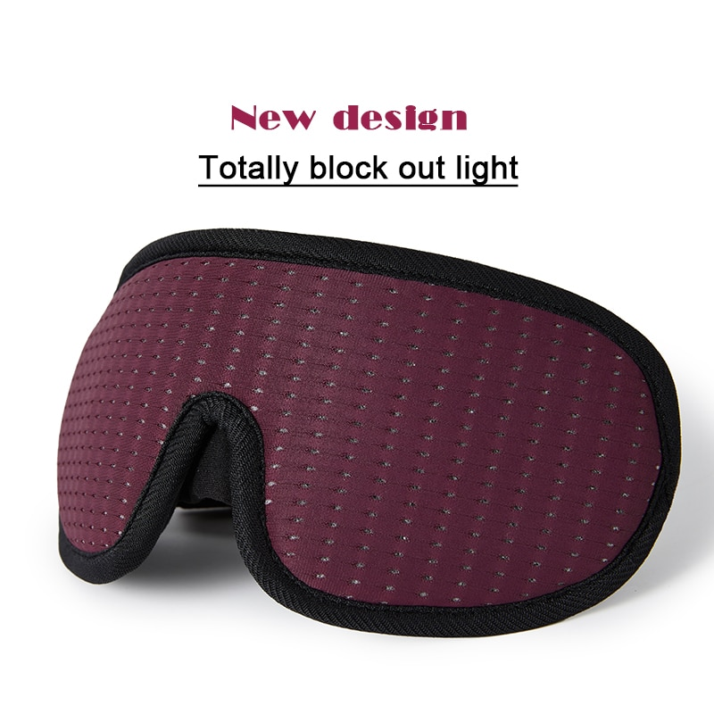 3D Sleeping Mask Block Out Light Soft Padded Sleep For Eyes Slaapmasker Eye Shade Blindfold Aid Face Eyepatch