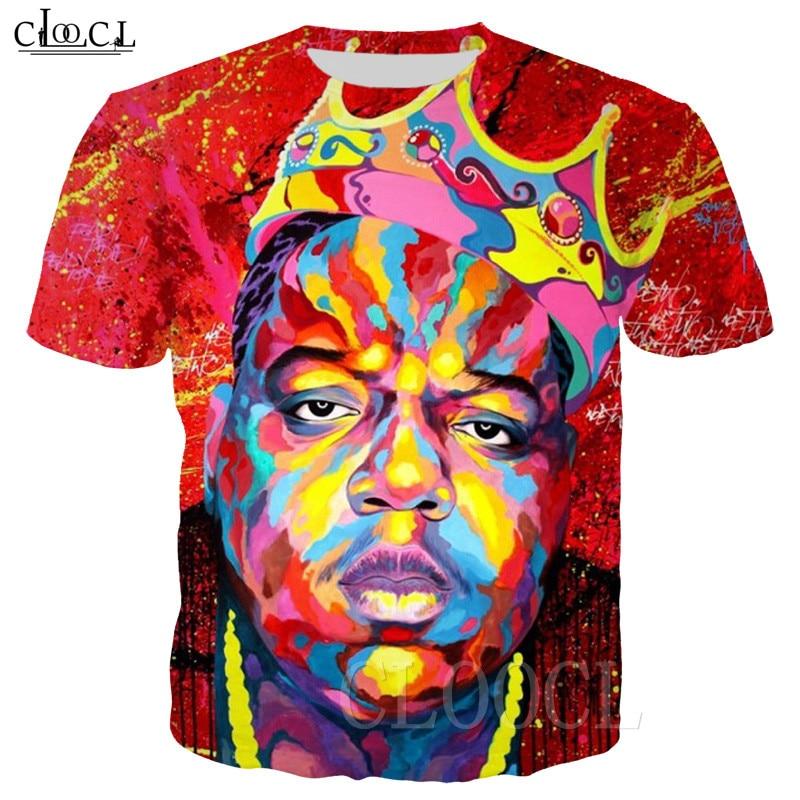 Popular Rapper Biggie Smalls 3D Estampa de Camisetas de Verão de Manga Curta Camiseta Unisex Plus Size Moda Casal T Shirt Com Capuz