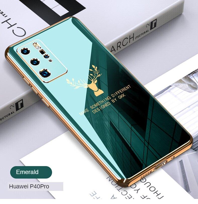 Stall Galvanizado Buraco Fino Huawei P40pro Escudo Do Telefone Móvel Popular Marca Alce P40 Quebrar-resistente Todas As Bordas Incluído Creati