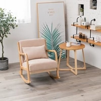 nordic solid wood comfortable leisure chair back rocking rocking chair lazy chinese recliner adult single rocking chair simple