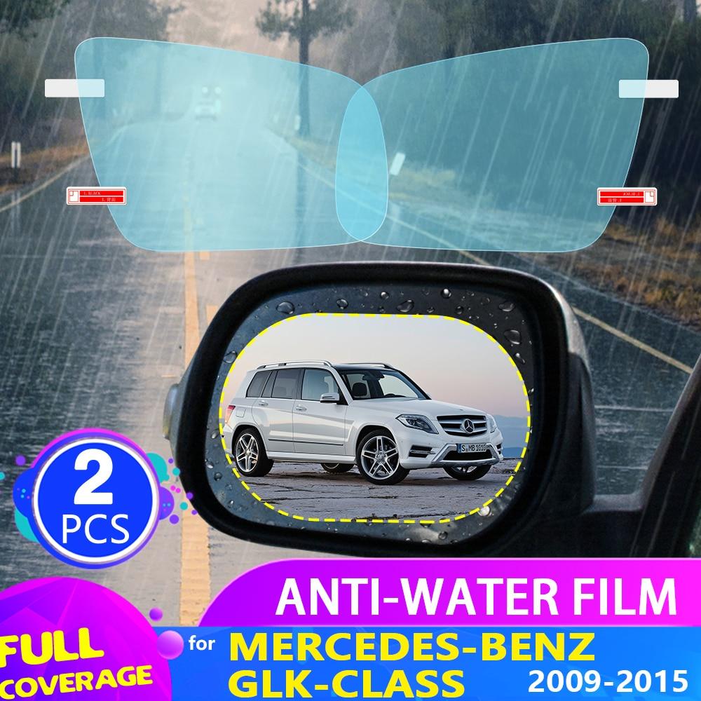 Car Rearview Mirror Film for Mercedes-Benz GLK-Class X204 2009-2015 2010 2011 2012 2013 Anti Fog Rainproof Sticker Accessories
