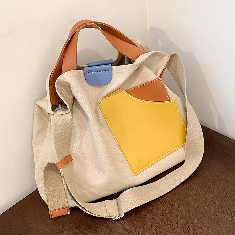 2021 Women Handbag Canvas Female Shoulder Bags Designer Women's Messenger Bags Ladies Fashion Clutch