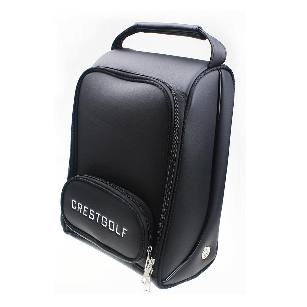 Crestgolf Golf Shoes Bag PU Leather Sport Backpack Supplies Accessories