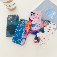 luxury flower watercolor fashion case for iphone 11 12 pro max se 2020 x xr xs 7 8 plus soft liquid sillicone back cover