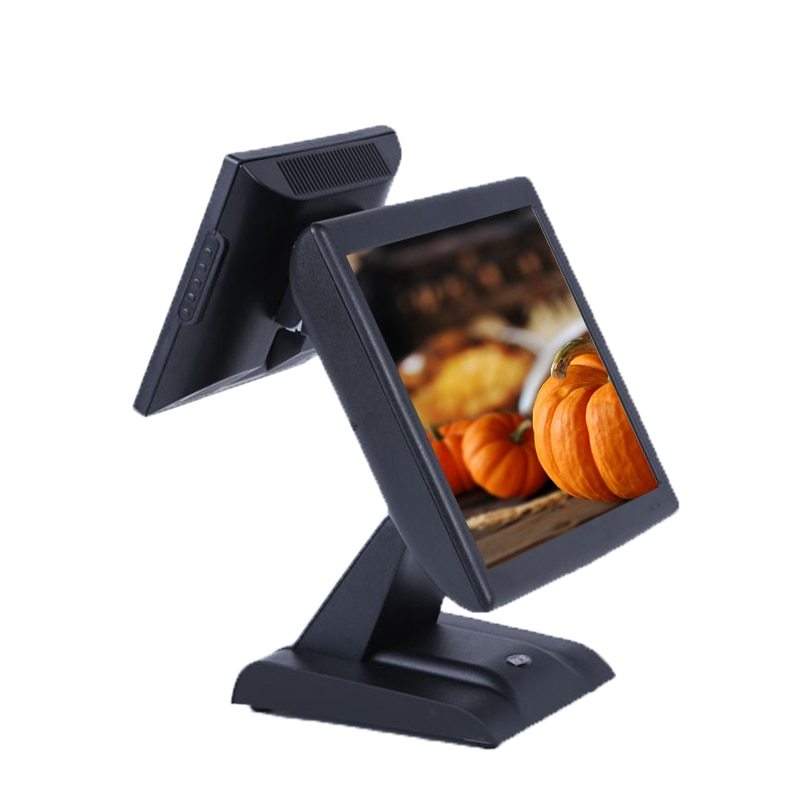 Dual Screen Pos Cash Register 15 Inch LED Monitor Touch All In One Pos Terminal For Restaurant Retail Business Pos Machine enlarge