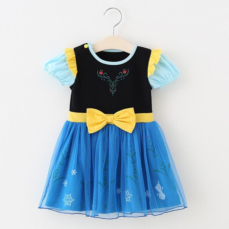 Платье для маленьких девочек от 2 до 6 лет Рапунцель, Эльза, Белль, Золушка, София, Минни, Микки, Белоснежка, костюм платье Анны, Эльзы Детские вечерние платья принцессы