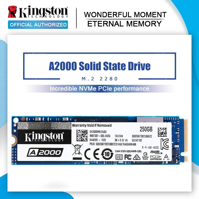Kingston 240G 480G 960G A2000 NVMe M.2 SSD interno de estado sólido Disco Duro SSD NVMe para PC portátil Ultrabook