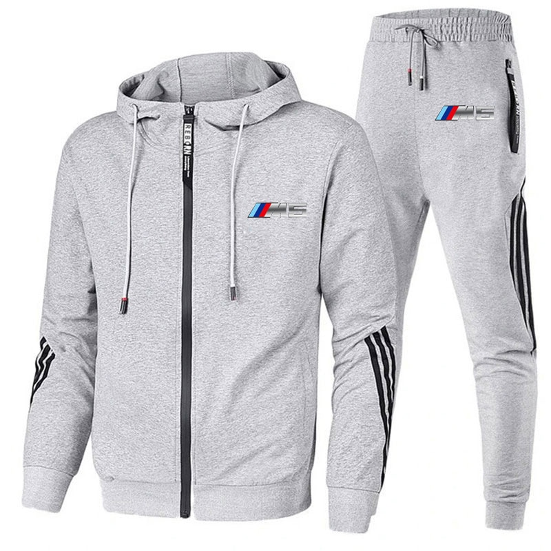 New jacket Men's Autumn Winter Sets Zipper Hoodie+pants Two Pieces Casual Tracksuit Male Sportswear Brand Clothing Sweat Suit