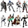 Figura de acción de Star Wars, figura en miniatura de bloques de construcción Darth Vader capitán Phasma Obi Wan Kenobi, bloques de construcción, juguete de ladrillo