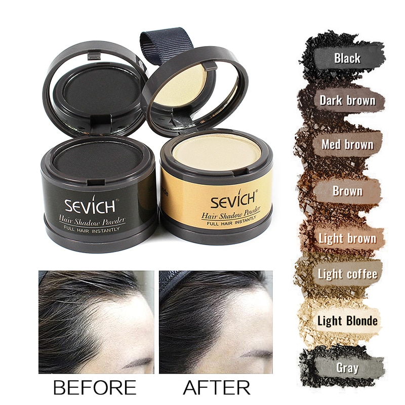 Sevich Hairline Powder 4g Hairline Shadow Powder Makeup Hair Concealer Natural Cover Unisex Hair Los