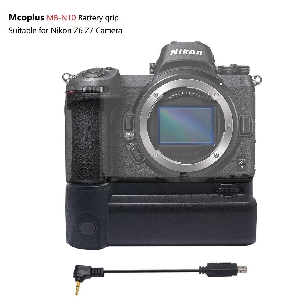Mcoplus MB-N10 العمودي بطارية اليد قبضة حامل لنيكون Z6 Z7 DSLR كاميرا العمل مع EN-EL15 البطارية