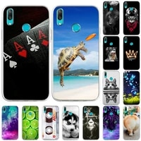 cases for huawei y7 2019 case back cover p30 lite p50 cartoon soft tpu silicone phone capa for huawei y7 pro 2019 y7 pro painted