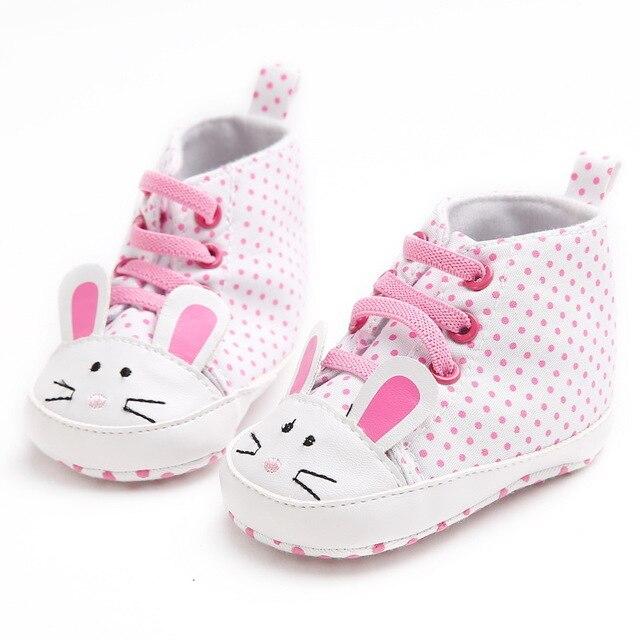 Baby First Walkers New Infant Kid Girls Shoes Lovely Anti-slip Soft Sole Newborn Sneakers Anti-Slip Prewalkers 0-18M