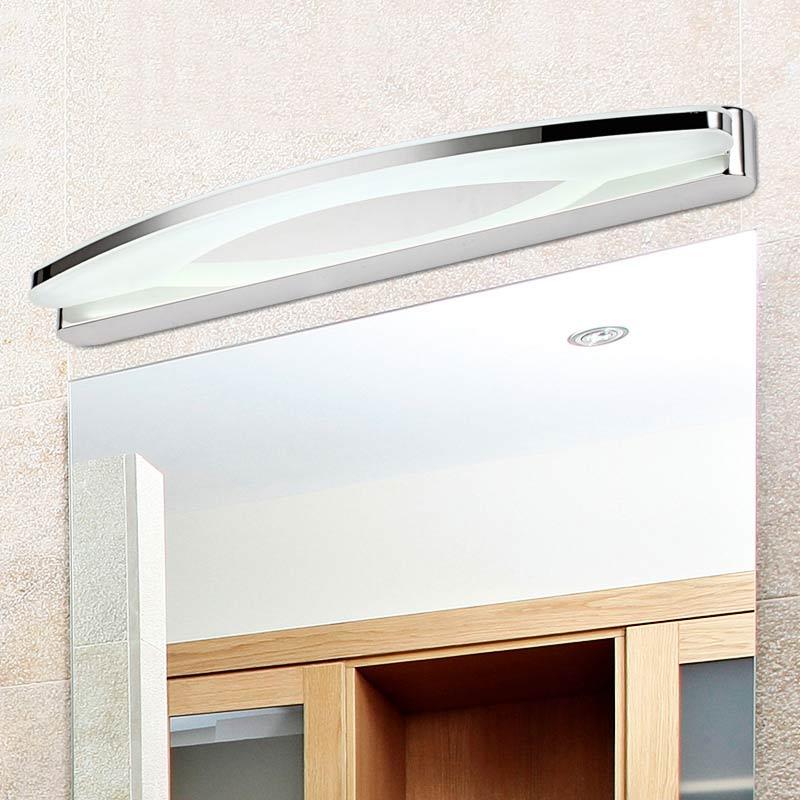 Moderna lámpara acrílica de 12W / 20W luz Led para espejo de baño, lámpara de pared, aplique de acero inoxidable, iluminación para el hogar 170-240V