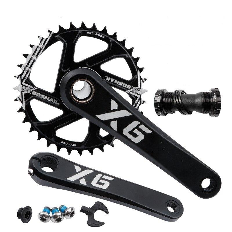 Ixf x6 liga de alumínio cnc mtb bicicleta 170/175mm oco integrado roda com suporte inferior peças da bicicleta