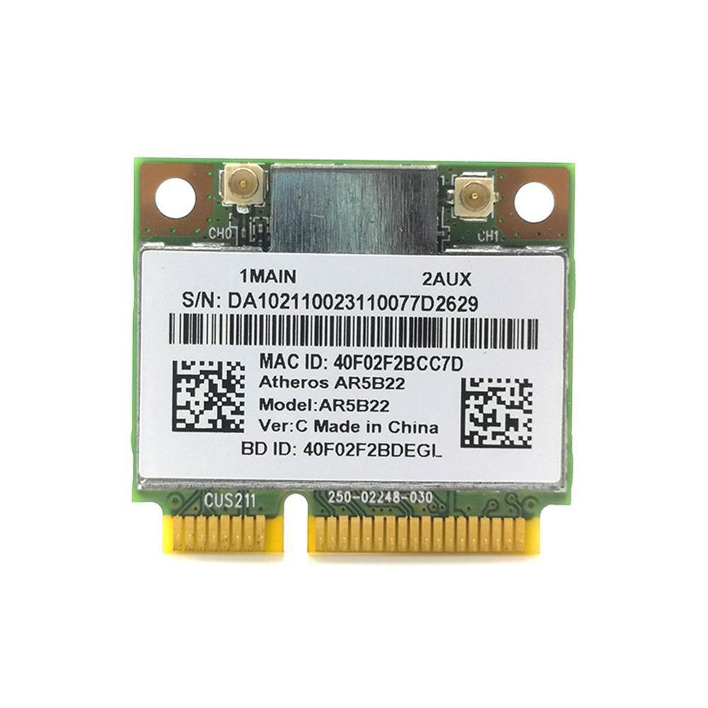 Atheros AzureWave AR9462 AR5B22 WB222 medio Mini PCIe 300Mbps + Bluetooth 4,0...