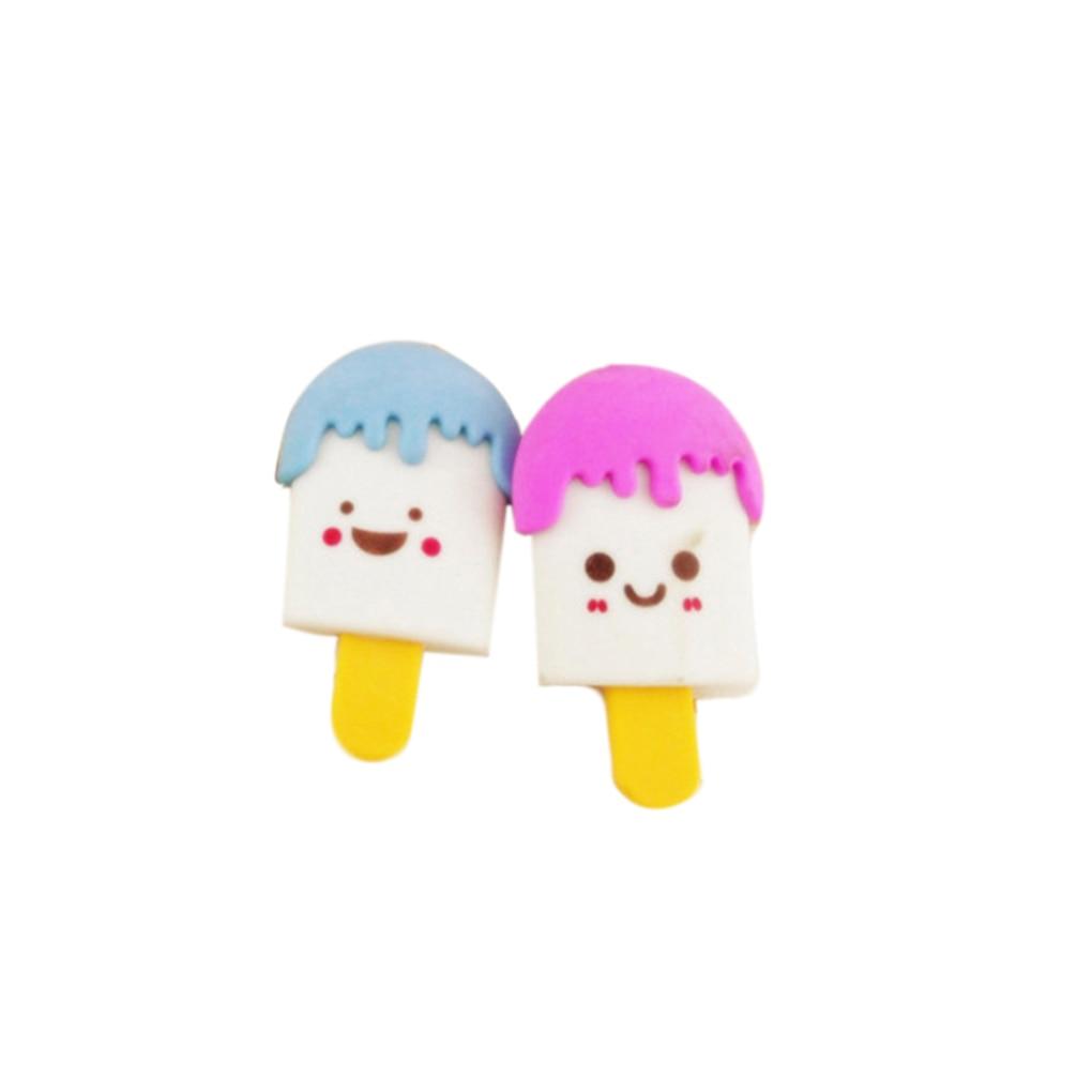 Gomas de borrar ZHUTING 2 uds, Mini helado para tratamiento de Frozen, para recuerdos infantiles, útiles escolares