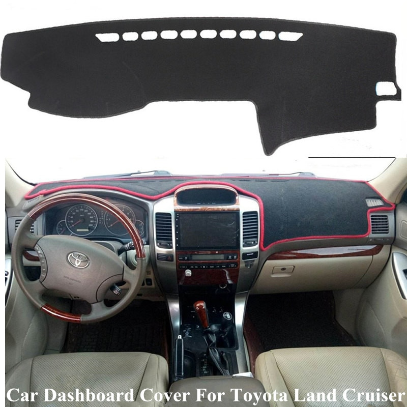 car rear trunk security shield cargo cover for toyota land cruiser prado 120 2003 2009 high qualit trunk shade security cover Black/Red Car Dashboard Cover Mat For Toyota Land Cruiser Prado Lexus GX470 J120 2003-2009 Dashmat Board Cover Carpet Sun Shade