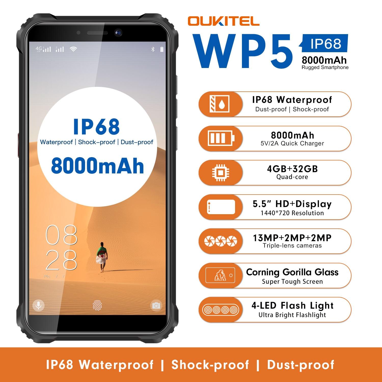 OUKITEL 4G Quard Core الهاتف الذكي WP5 5.5