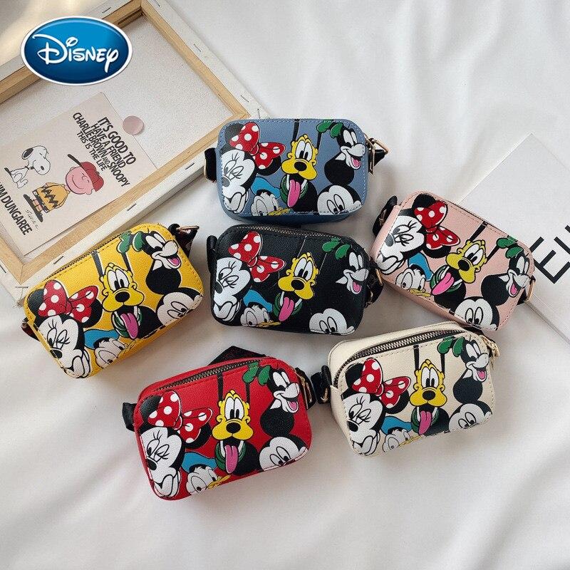 Mickey Girls Messenger Bag Crossbody Shoulder Bag Cartoon Minnie Handbag Children's Bag Mini Cartoon
