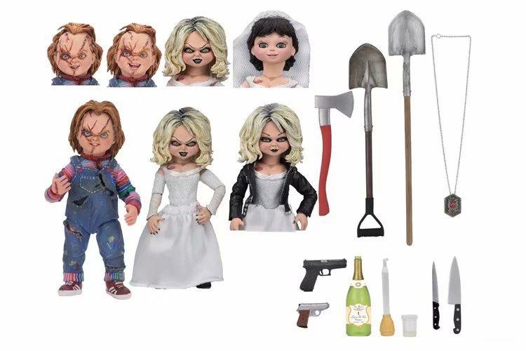 Película juego de niños NECA novia de Chucky Ultimate Chuncky y Tiffany vinilo muñecas figura Juguetes