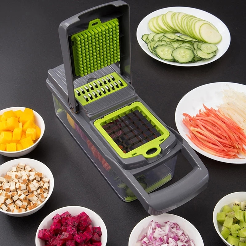 Vegetable Cutter Multifunctional Slicer Fruit Potato Peeler Carrot Grater Kitchen Accessories Basket Vegetable Slicer овощерезка