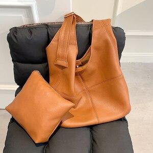 Soft Leather Armpit Shoulder Bags for Women Luxury Solid Color Pu Large Capacity Female Bag Travel Shopper Women's Brand Handbag