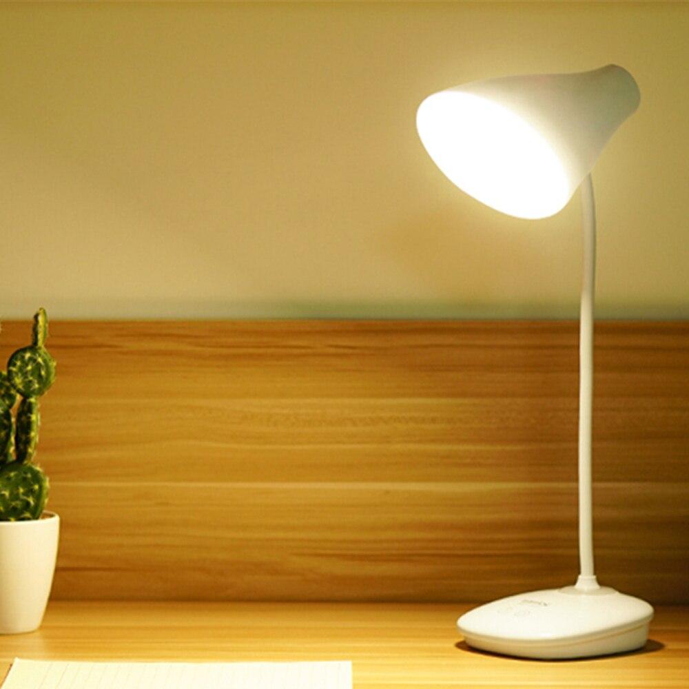 Lámpara LED de pie de escritorio moderno Interruptor táctil 5V Led recargable lámpara de estudio de estudiante lámparas de mesa para oficina de trabajo de dormitorio