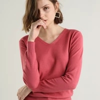 cashmere sweater women knitted jumper top pull femme hiver 2021 autumn winter elegant office lady v neck pullover sweaters