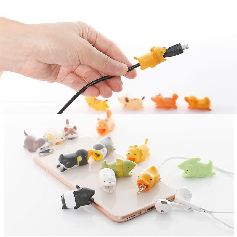 cute Cartoon Charger Cable Winder Protective Case Saver Data line Protector Earphone Cord Protection Sleeve Wire Cover