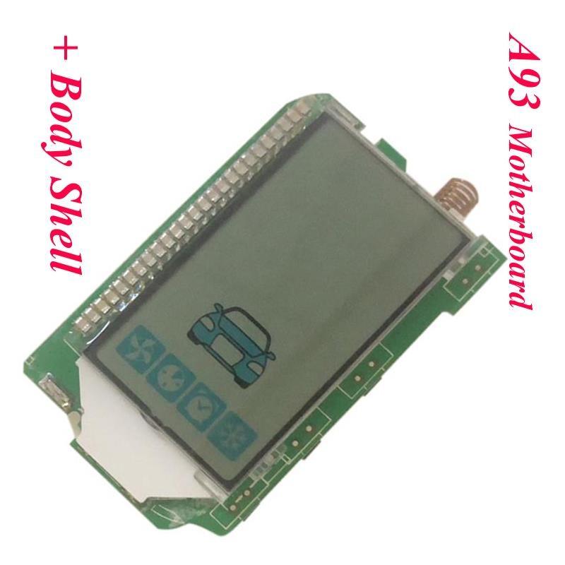 Llavero para mando a distancia A93 con LCD Vertical, para la línea estelar rusa A93, sistema de alarma antirrobo para coche