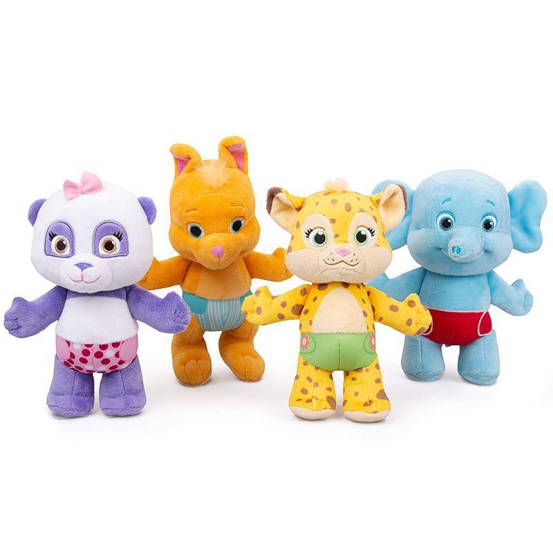 Muñeco de peluche de 25 cm para fiestas Lulu Franny Bailey Kip con diseño de leopardo, canguro, elefante, Panda, animales de peluche, regalos para niños