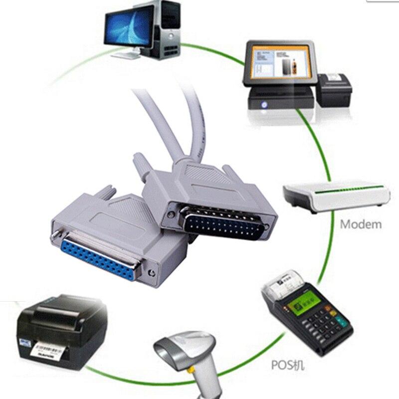 Nuevo AAA calidad paralelo 25Pin 25-Pin DB25 macho a hembra impresora LPT DB25 M-F LPT Cable conector s0n22 P50 de alta calidad
