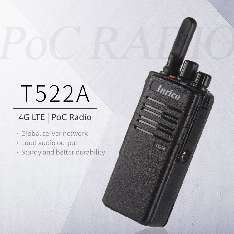 Inrico T522A 4G LTE Zello Network Radio Ptt Walkie Talkie GPS WIFI Bluetooth Poc Radio Android Walkie Talkie