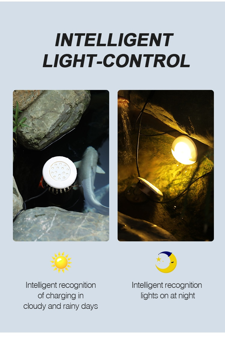 Solar One For Four LED Lights Control Garden Outdoor Buried Fish Pond Underwater Light Waterproof Swimming Pool Fish Tank Light enlarge