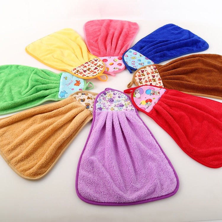 Cleaning Rags Hand Towels Kitchen Hand-Washing Towels Bathroom Supplies Coral Velvet Towels Multi-Color Multi-Purpose Rags