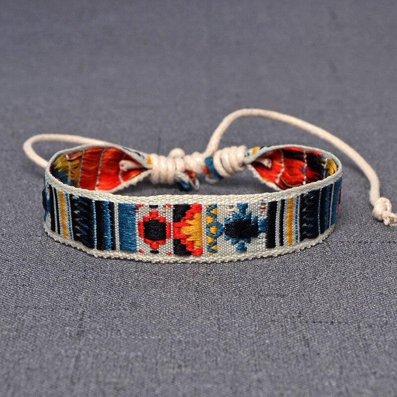 Браслеты в богемном стиле, плетеные браслеты дружбы для женщин и мужчин, очаровательный браслет ручной работы из хлопка, этнические ювелирные изделия, подарки