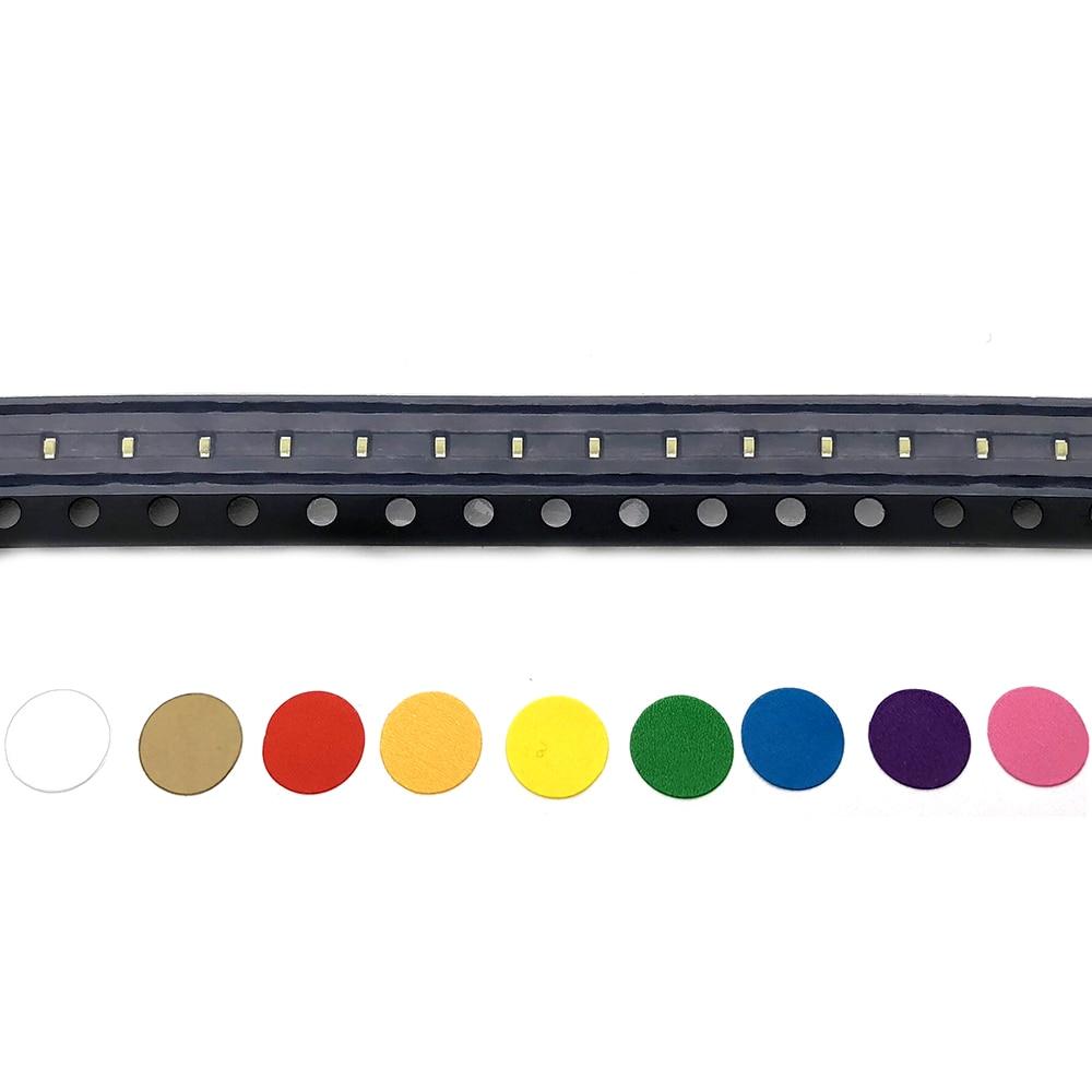 100 piezas LED 0402 SMD 1005 de blanco cálido/blanco frío/RGB/rojo/amarillo/naranja /Verde/azul hielo/púrpura UV/diodo emisor de luz rosa