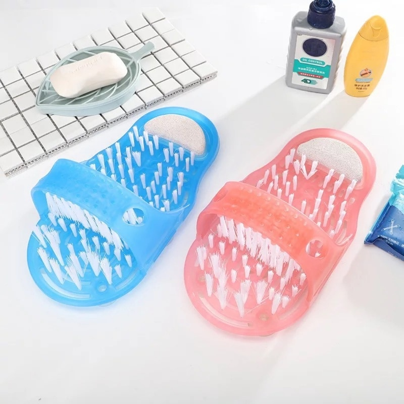 Feet Massage Slippers Bath Shoes Brush Pumice Stone Foot Plastic Shower Tools Remove Dead Skin Foot Care Tool enlarge