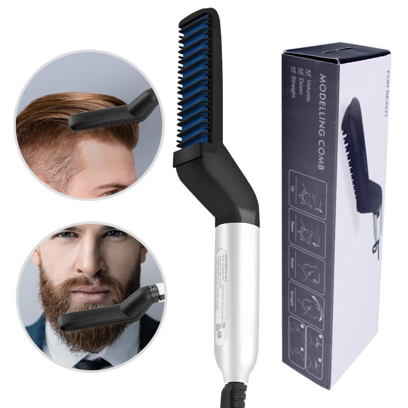 VIP DropShipping Многофункциональная расческа для волос щетка выпрямитель для бороды выпрямление волос Расческа для завивки волос Быстрый стайлер для волос для мужчин
