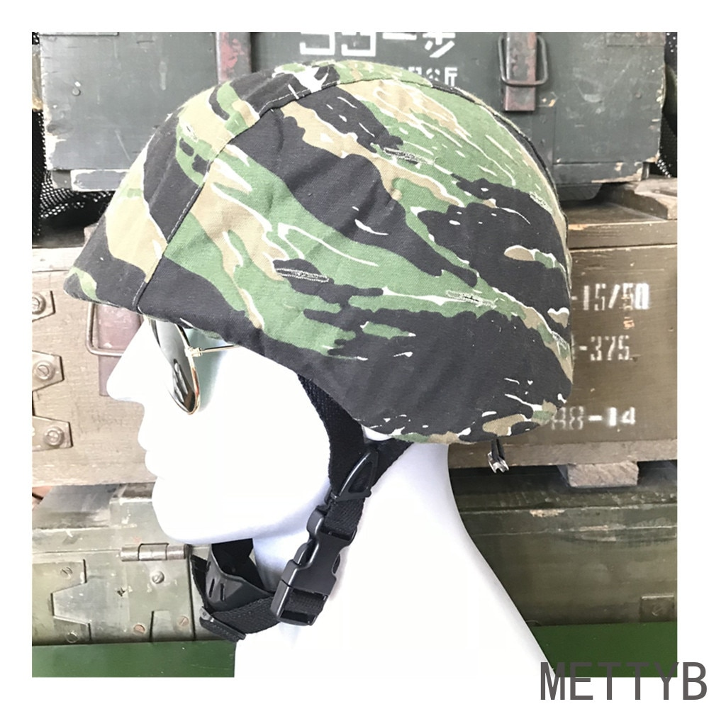 Tiger Pattern Helmet Cover Military Vietnam War Sweat Absorption Tactical Helmet Beanie Outdoor Hat
