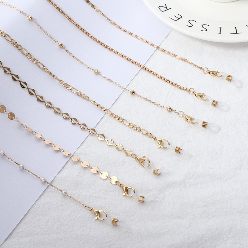 Sunglasses Masking Chains For Women Alloy Pearl Chain Eyeglasses Chains Lanyard Glass 2021 New Fashi